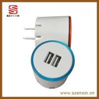 Mew LED dual wireless usb charger for mobile phone Manufactures