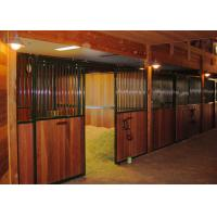 Front Panel Wooden European Horse Stalls Bamboo Material For High Safety Manufactures