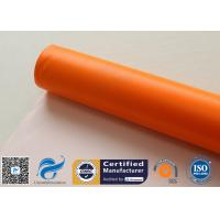 Quality 0.45mm Chemical Corrosion Resistant Orange Silicone Coated Fiberglass Cloth Fabric for sale