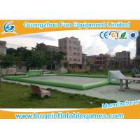 Plato PVC Tarpaulin Green Inflatable Football Pitch , Inflatable Bubble Football Field Manufactures