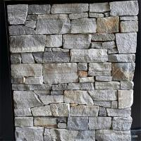 China Beige / Brown / Rust Natural Stone Ledger Stone Wall Tile With Cement Backing on sale