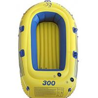 Roll Up Plastic PVC Inflatable Boat Yellow Portable For Challenge Manufactures