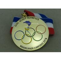China Gold Plating Enamel Medals , Olympic Awards For Running Race on sale