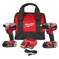 Milwaukee M18 18-Volt Lithium-Ion Brushless Cordless Compact Drill/Impact Combo Kit (2-Tool) W/ (2) 2.0Ah Batteries, Ch Manufactures