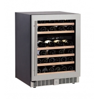 China 46 Bottles Luxury Modern Digital Control Dual Zone Wine Cooler,Hotel home Built-in Wine Refrigerator on sale