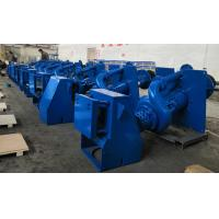 Wet Pit Slurry Pump with Vertical Shaft High Chrome A49 Blue Color RAL5015 in Steel Pallet