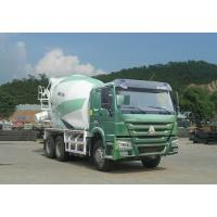 Green Concrete Mixer Truck 10 Cbm With Safety Belts For Driver Manufactures