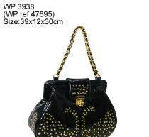 Fashion design handbag with golden studs Manufactures