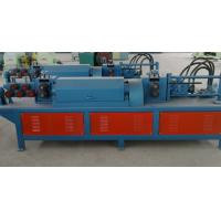 Fully Automatic Steel Bar Cutting Machine , Reinforced Rebar Straightening Cutting Machine Manufactures