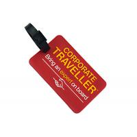 Soft Rubber Custom Plastic Luggage Tags OEM / ODM Accepted Light Weight Manufactures