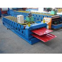 Blue 5 M / Min Roof Panel Glazed Tile Roll Forming Machine With 18 Forming Station Manufactures