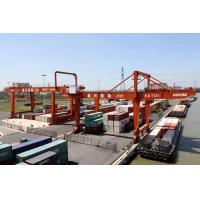 China Automatic Electric Shipping Container Crane , Heavy Working Duty Port RMG Crane on sale