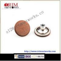 China Alloy jeans 20MM HVB Copper Tin plastic inside round and smoth button on sale