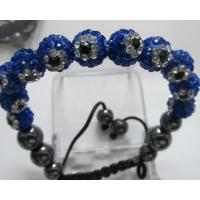 Handmade Jewellery Shamballa Beads Bracelets with Mix Color Crystal Balls Manufactures