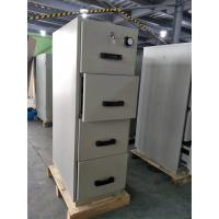Grey Steel Fire Resistant Filing Cabinets 4 Drawers For Valuable Records / Documents Manufactures