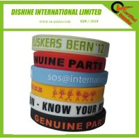 Debossed Silicone Wrist Band with color filling Manufactures