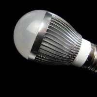 4W AC100 - 240V / 50 - 60Hz Black / Silver Cup Dimmable LED Lighting Bulb With CE ,RoHS Manufactures