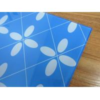 China 5MM printing blue tempered glass toughened glass for decoration on sale