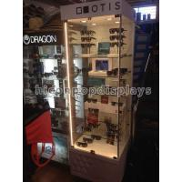 Retail Clear Glass Sunglasses Display Case Waterproof With 6 Shelves Manufactures