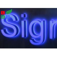 Stainless Steel Framed Outdoor Lighted Business Signs IP65 For Street Sign Manufactures