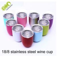 12oz Stainless Wine Tumbler 18/8 304 Stainless Steel Vacuum Cup Thermos Manufactures