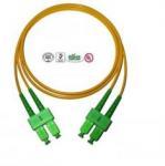 Single Mode SC Fibre Optic Patch Cords APC , Full Duplex Fiber Optic Cable