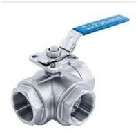 Quality 3-way stainless steel ball valve 1000wog ISO-5211 DIRECT MOUNTING PAD npt reduce port l/t for sale