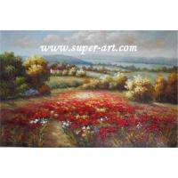 China Flower field oil painting on sale