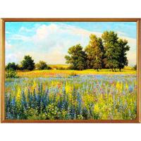 China hand painted pastoral scenery oil painting on canvas on sale