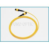 Single Mode MPO Fiber Optic Cable For Indoor Structure Cabling 32 Fibers Manufactures