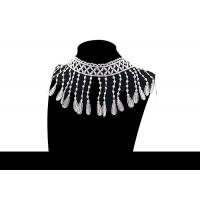 Buy cheap Custom Fashion Guipure Polyester Lace For Apparel / Decorative Tassel Fringe from wholesalers