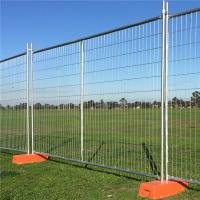 Temporary Safety Fence 2.4 x 2.1M 10Panels 10Concrete 10 Clamps Building Manufactures