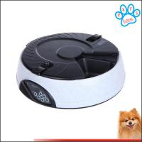 China 6 Meal LCD Digital Automatic Pet Feeder Meal Dispenser Bowls with Recorder on sale