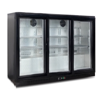 China Glass Door Konor 330L Under Counter Bar Fridge For Hotel on sale
