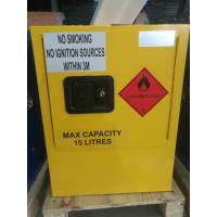 Yellow Dangerous Goods Cabinets For Liquid , Industry Paint Safety Storage Cabinets Manufactures