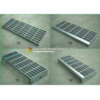 30 X 3 Steel Stair Treads Grating Material Saving Easy Lifting Good Ventilation Manufactures