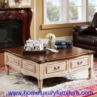 China White Coffee table living room table sofa table with drawers modern coffee table FY-2006 on sale