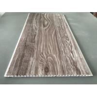 Recyclable Brown PVC Wood Panels As Ceiling Covering 7.5mm Thickness Manufactures