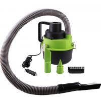 Black Green Handheld Vacuum Cleaner For Car , 93w - 120w Car Dust Cleaner Manufactures