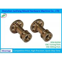 Non Standard Brass CNC Motor Parts +/-0.005mm Tolerance OEM / ODM Service Manufactures