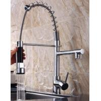 brass double funcion kitchen mixer hot selling pull-out kitchen faucet sanitary
