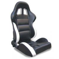 Black and white Sport Racing Seats with harness / classic sports car seats Manufactures