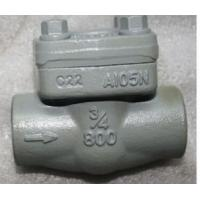 China 1/2 - 2 Forged Steel Lift Check Valves S / W A105 F304 F316 API 602 on sale