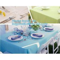 China Household cleaning Wipes items non woven disposable table cloth, Disposable TNT Table Cloth nonwoven spunbond polypropyl on sale