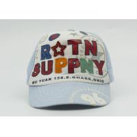 Printed Children / Kids Baseball Caps With Elastic Back For Summer , 48 - 55 cm Manufactures