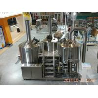 Steam Heating Stainless Steel Brewing Equipment With CE UL ISO Certificate Manufactures
