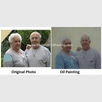 China Contemporay Custom Oil Painting Portraits Aged People Portrait Oil Paintings On Canvas on sale