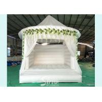 5x4 inflatable wedding white bouncy castle with flower decoration for wedding parties or events for sale
