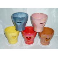 Decorative Ceramic Flower Pots Wall Mounted / Hanging / Free Standing Handmade Shape Manufactures