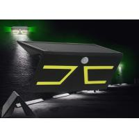 Black LED Solar Sensor Wall Light , Solar Powered Wall Mounted Lights Weatherproof Manufactures